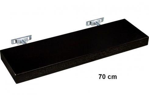 STILISTA SALIENTO 30869 Nástěnná police  - hnědočerná 70 cm Regály a policky
