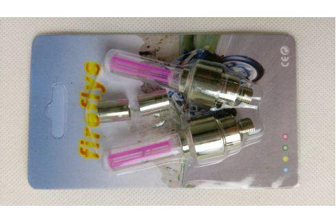 Svítící ventilky - jednobarevné - Červený ventilek Cyklistika
