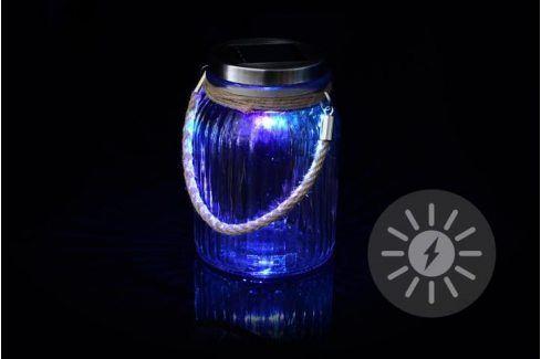 Garthen 36425 Dekorativní solární osvětlení - závěsná sklenice - LED měnící barvu Zahradní lampy