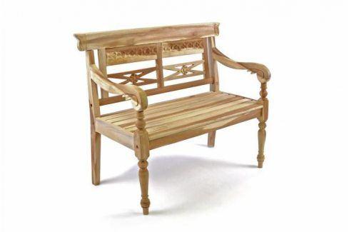 Divero 35093 Dřevěná 2-místná lavice pro děti z teakového dřeva Zahradní lavice
