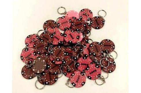 Tuin 6374 Pokerový přívěšek 48 ks hnědá/růžová Příslušenství k pokeru