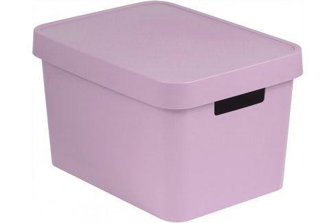 Curver Úložný box s víkem Infinity 17 l růžová Úložné boxy