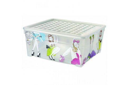 CURVER PANENKY Úložný box s víkem 18,5L Úložné boxy