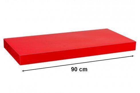 STILISTA VOLATO 31069 Nástěnná police  - lesklá červená 90 cm Regály a policky