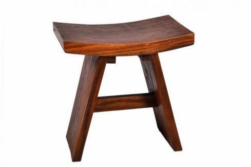 DIVERO 4260 Stolička z masivního dřeva Stoličky