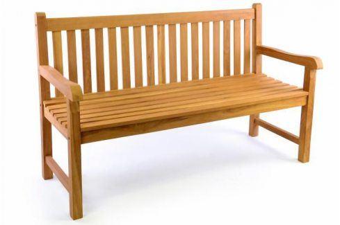 Divero 34977 Zahradní lavice 3-místná masiv 150 cm Zahradní lavice