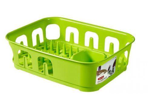 CURVER ESSENTIALS 31856 Odkapávač nádobí obdélník - zelený Odkapávače nádobí