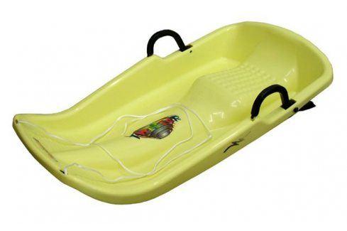 CorbySport Plastkon Twister 28543 Bob - žlutý Dětské boby a sáně