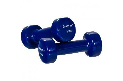 MOVIT 26863 Sada vinylových činek 2 x 2,5 kg modré Činky