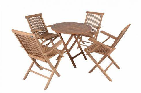 Divero 2298  zahradní skládací nábytek z týkového dřeva Zahradní sestavy