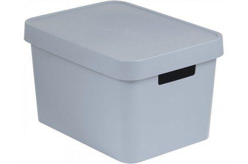 CURVER Úložný  box plastový s víkem  17L - šedý Úložné boxy