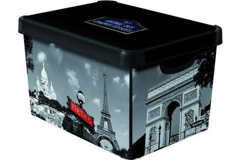 Curver Dekorativní úložný box L PARIS - 04711-P35 Úložné boxy