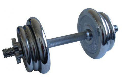 CorbySport 4557 Činka nakládací, jednoruční, chromová - 11 kg Činky