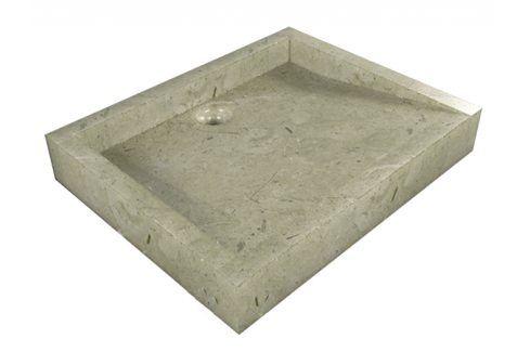 Indera Belua Cream 55378 Umyvadlo z přírodního kamene Umyvadla