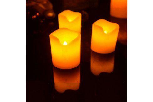 Elektrické svíčky z pravého vosku 3ks Svítidla
