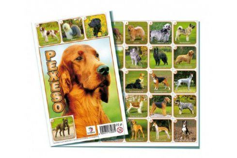 Psi společenská hra 32 obrázkových dvojic Stolní hry