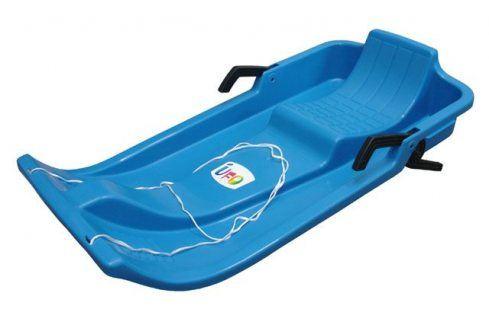 CorbySport 32602  Plastový bob - modrý s brzdami Dětské boby a sáně