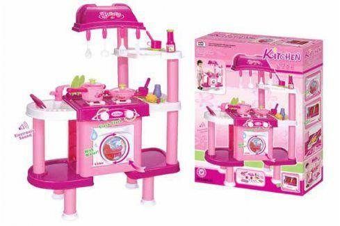 G21 24522 Dětská kuchyňka s příslušenstvím růžová II. Dětské kuchyňky