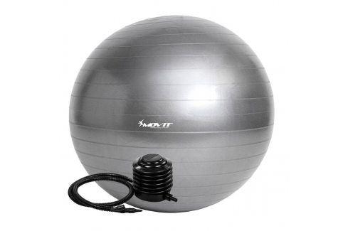 MOVIT 54109 Gymnastický míč s pumpou - 75 cm - stříbrný Gymnastické míče