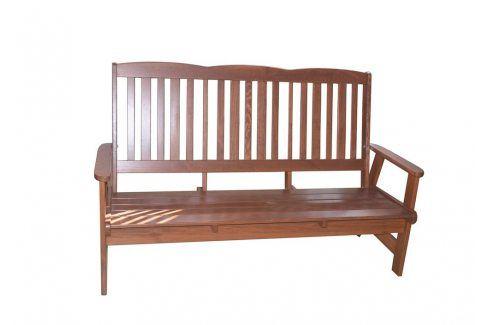 Tradgard LUISA 41400 Zahradní dřevěná lavice třímístná Zahradní lavice