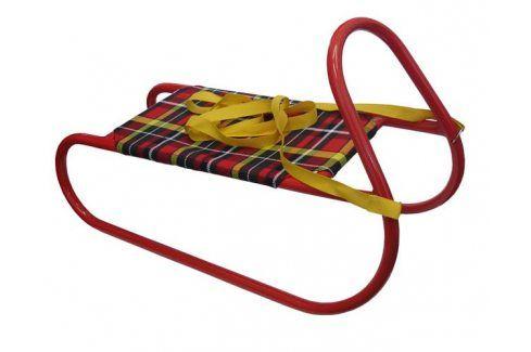 CorbySport 27955 Sáně kovové dětské - červené Dětské boby a sáně