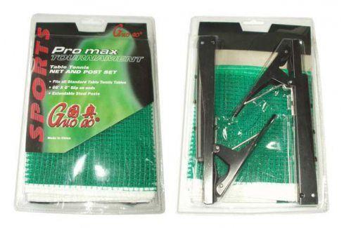 CorbySport 4972 Držák se síťkou na stolní tenis (pingpong) - rychloupínací Pingpongové pálky