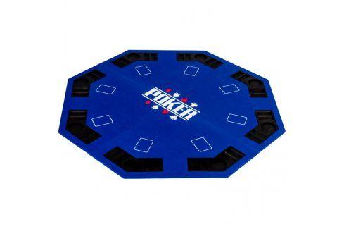 Garthen 57372 Skládací pokerová podložka - modrá Stoly na poker