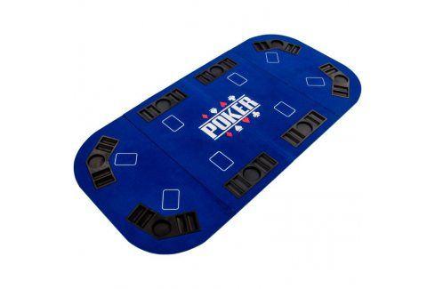 Garthen 57302 Skládací pokerová podložka - modrá Stoly na poker