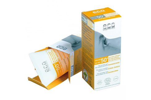 Eco Cosmetics Opalovací krém SPF 50+ BIO s lehce tónovacím účinkem 75ml Přípravky na opalování