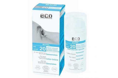 Eco Cosmetics Opalovací krém Neutral bez parfemace SPF 20BIO 100 ml Přípravky na opalování