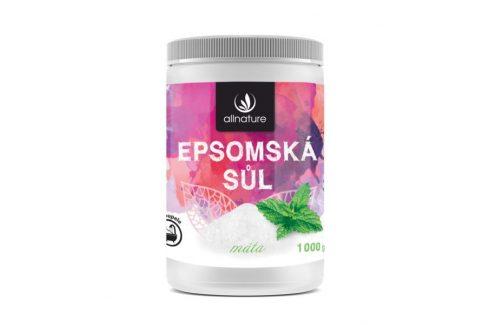 Allnature Epsomská sůl máta 1000 g Přípravky pro péči o nohy