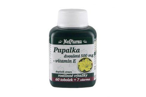 MedPharma Pupalka dvouletá 500mg vitamín E 67 kapslí Vitamíny a minerály