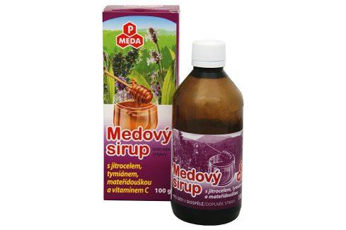 Purus Meda PM Medový sirup s jitrocelem, tymiánem, mateřídouškou a vitamínem C 100 g Vitamíny a minerály