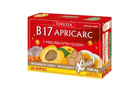 Terezia Company B17 Apricarc s meruňkovým olejem 50 kapslí + 10 kapslí ZDARMA Vitamíny a minerály
