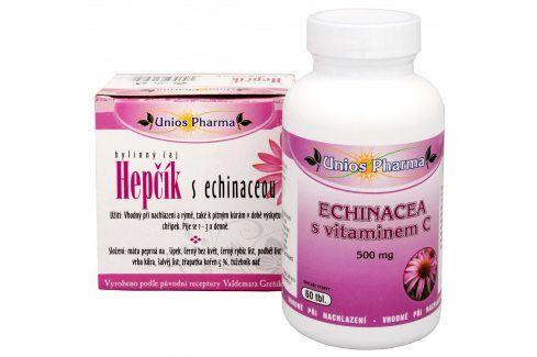 Unios Pharma Echinacea s vitamínem C 500 mg 60 tbl. + čaj Hepčík s Echinaceou 10 sáčků ZDARMA Vitamíny a minerály