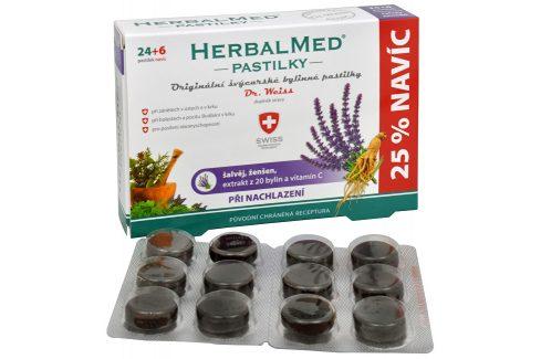 Simply You HerbalMed pastilky Dr. Weiss při nachlazení 24 pastilek + 6 pastilek ZDARMA Vitamíny a minerály