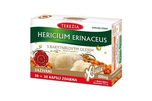 Terezia Company Hericium erinaceus se 100% rakytníkovým olejem 30 kapslí + 30 kapslí ZDARMA Doplňky stravy