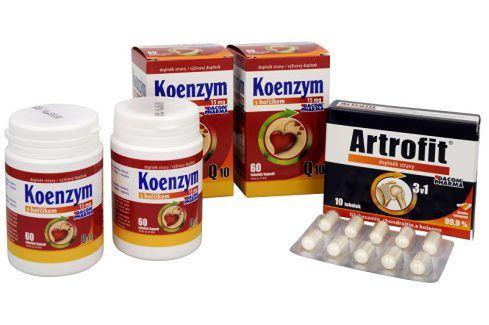Dacom Pharma Koenzym Q10 s hořčíkem DUO 2x60 tob. Artrofit 10 tob. Doplňky stravy