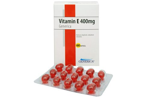 Generica Vitamín E 400 mg 60 kapslí Vitamíny a minerály