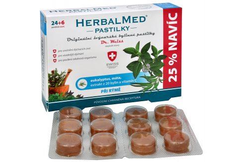 HerbalMed Dr.Weiss Eukalypt + máta + vitamín C 30 pastilek Vitamíny a minerály