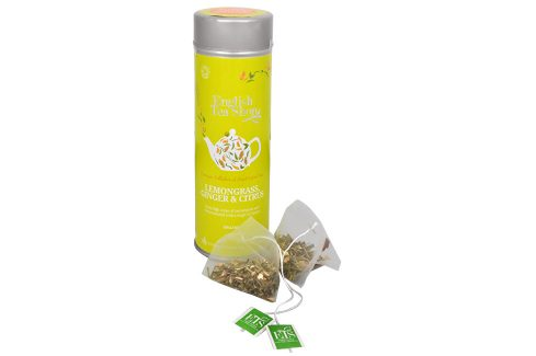 English Tea Shop Čaj Citrónová tráva, zázvor & citrusy - plechovka s 15 bioodbouratelnými pyramidkami Čaje a kávy