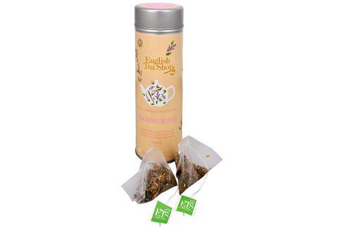 English Tea Shop Čaj Zklidňující směs - plechovka s 15 bioodbouratelnými pyramidkami Čaje