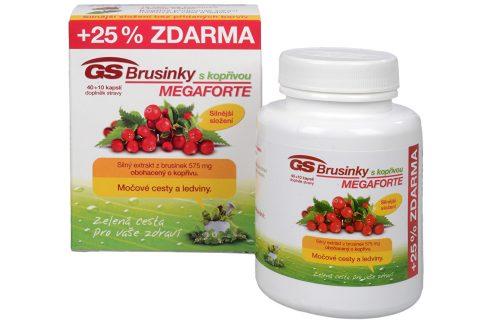 GreenSwan GS Brusinky MEGAFORTE s kopřivou 40 kapslí + 10 kapslí ZDARMA Doplňky stravy