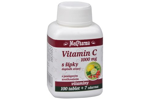 MedPharma Vitamín C 1000 mg s šípky 100 tbl. + 7 tbl. ZDARMA Vitamíny a minerály