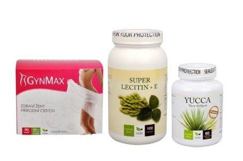 Doporučená kombinace produktů Detoxikace - Lecitin 3x silnější + Yucca + Gynmax Doplňky stravy