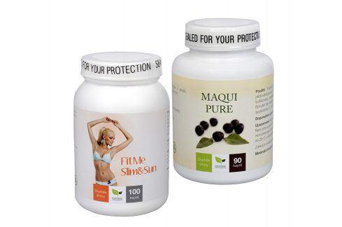 Sada Na Sluneční ochranu - Maqui Pure 90 kapslí + FitMe Slim&Sun 100 tob. Přípravky na opalování