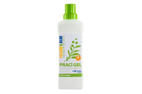 Yellow & Blue Prací gel z mýdlových ořechů s pomerančovou silicí 1 l Ekologické praní