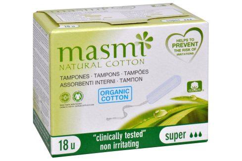 Blue Step Tampóny z organické bavlny MASMI Super 18 ks Hygienické tampóny