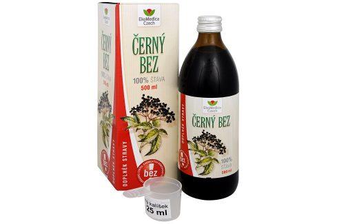 EkoMedica Czech Černý bez - 100% šťáva z černého bezu 500 ml Doplňky stravy