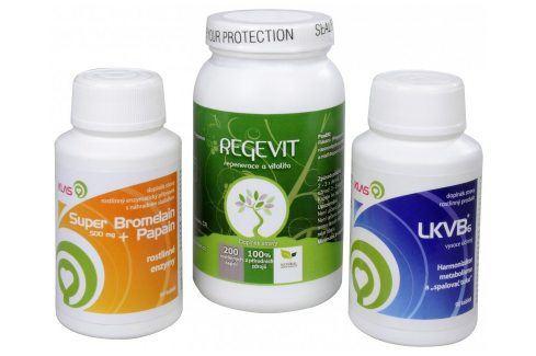 Doporučená kombinace produktů Regevit + Super Bromelain + Papain + LKVB6 Doplňky stravy
